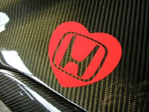 honda civic heart stickers 2