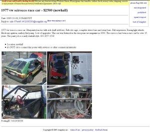 scirocco art car
